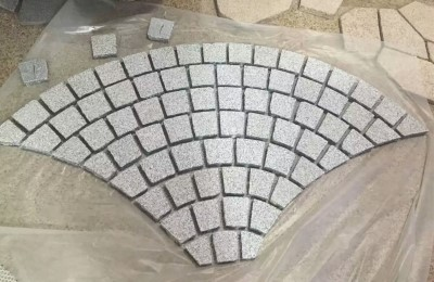fan shape paving
