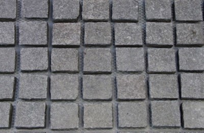 Granite paving with mesh back